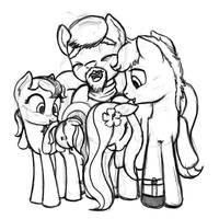 Luau's Family Sketch by Nimaru