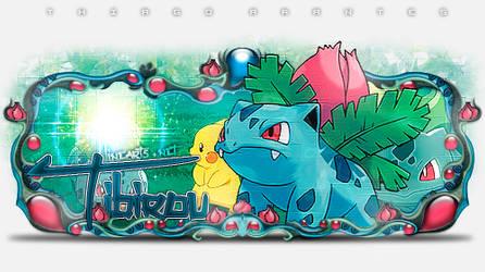 Sign Modelada Bumbasaur - Pokemon by thiagoarantes20