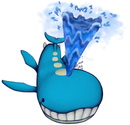 Wailord Used Water Spout!