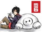 Sketch 14:  Big Hero 6 [Hiro and Baymax]