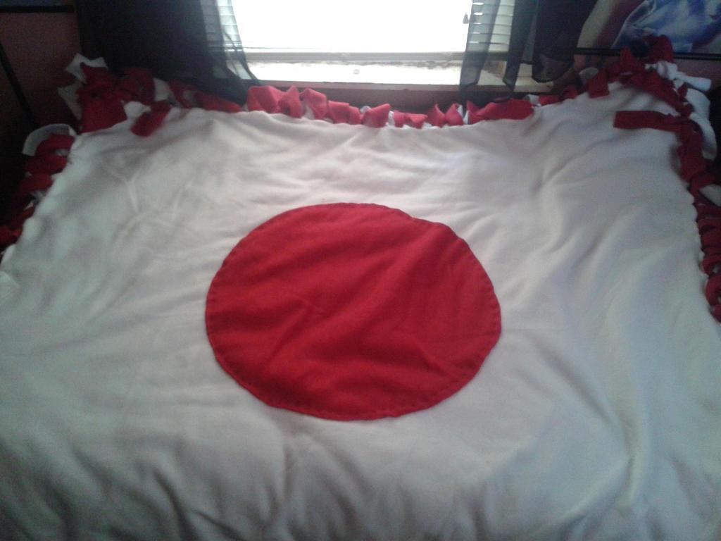 japanese flag blanket by azaleasnape on deviantart