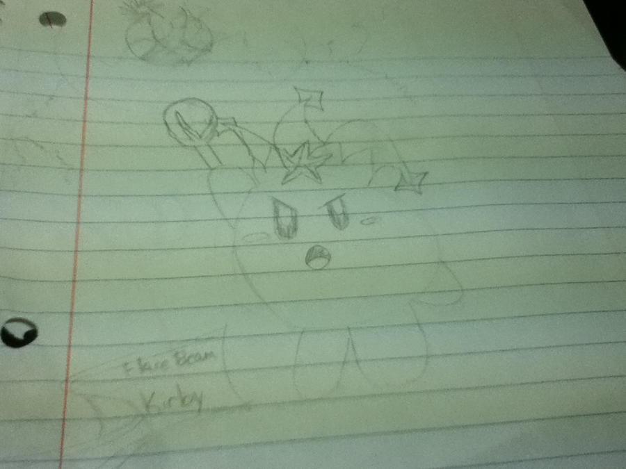 Kirby ~Flare beam Kirby~ by Iceyfira on deviantART