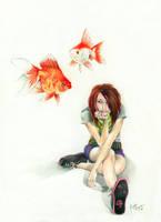 why hello goldfish by Kayla-Noel