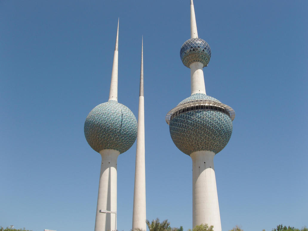 Kuwait Water towers by Insidethebox on DeviantArt All Sizes Water Towers Kuwait Photos