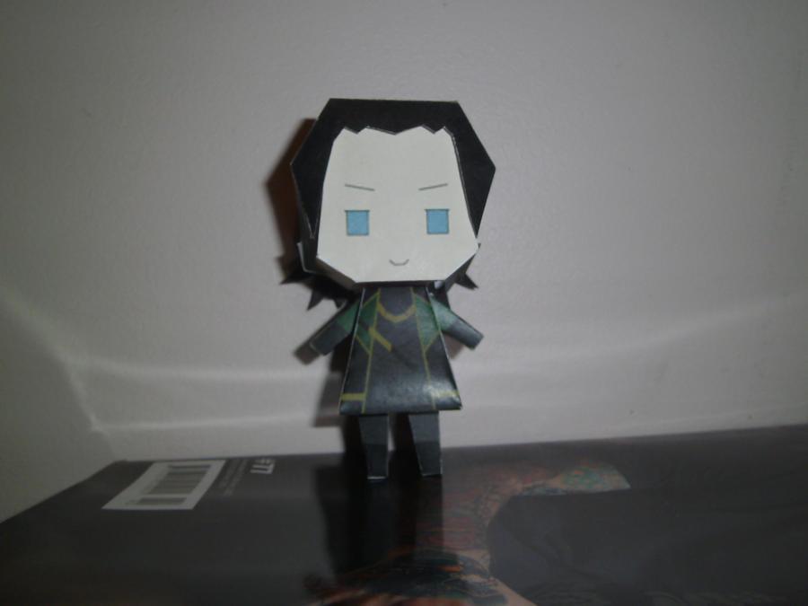 Loki Papercraft 1 - Front by princess6590