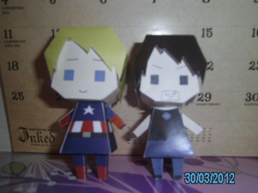 Captain America And Tony Stark Papercraft By Princess6590