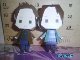 Sam and Dean Winchester Papercrafts by princess6590