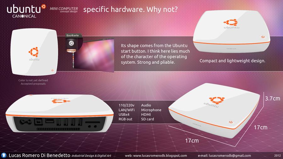 Ubuntu MINI Computer Concept Design by lucasromerodb