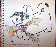 you make my heart spew rainbow