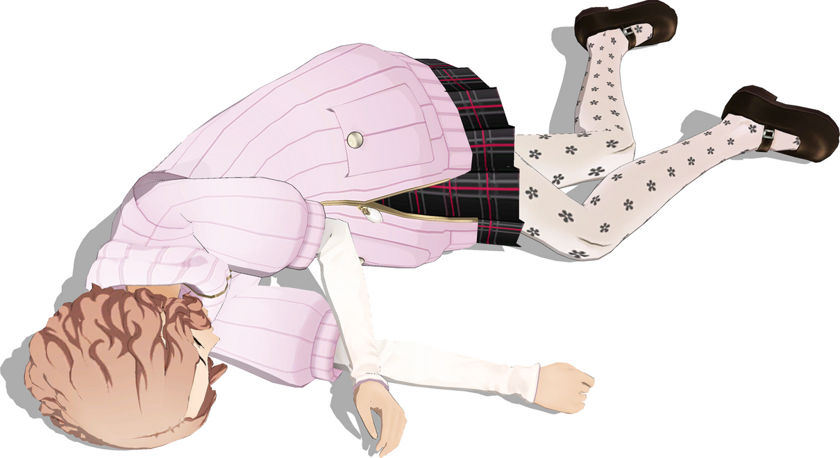 Haru Okumura Hurt 3 by FallenParty