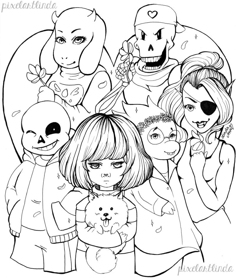 undertale coloring pages undertale valentine 39 s day free lineart by lindaannart on