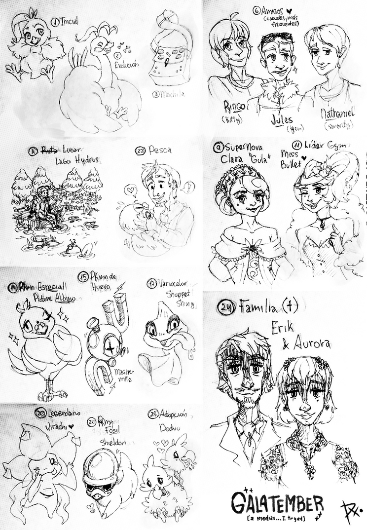 PG [Galatember] Sketch Compilation by Fenix-Acuarelado