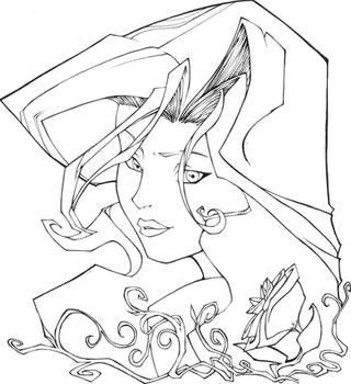 Poison Ivy inked by saga1941
