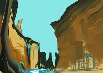 Canyon Oasis_WIP 2 by saga1941