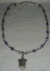 Rutilated Quartz Necklace by Shinigami20