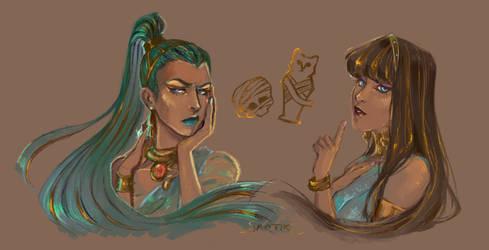 Nefera and Cleo [ Monster High ]