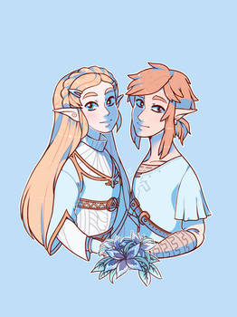 Breath of the Wild Zelda and Link