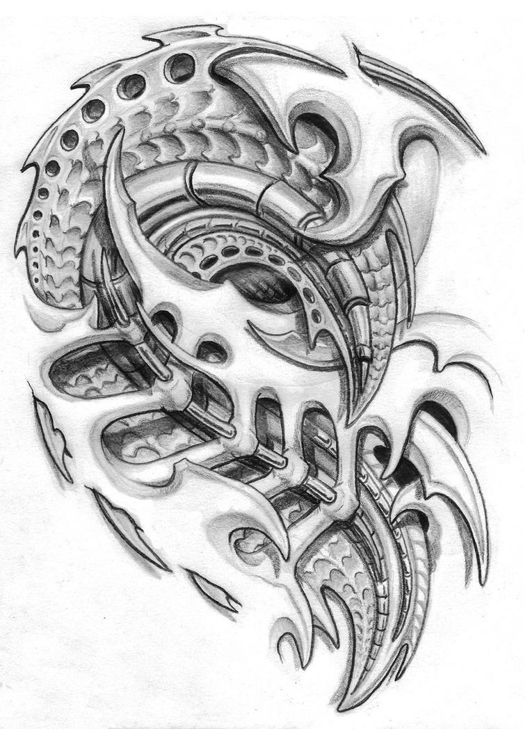 biomechanical chest piece. by sarcovenator on DeviantArt