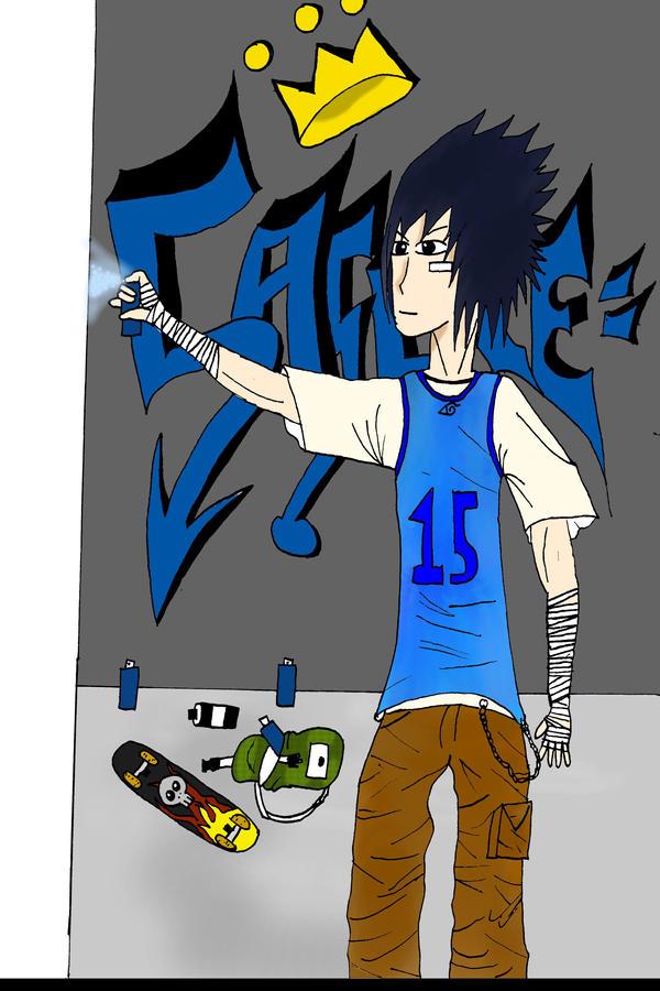 Graffiti King Sasuke By Hoshi Shinigami