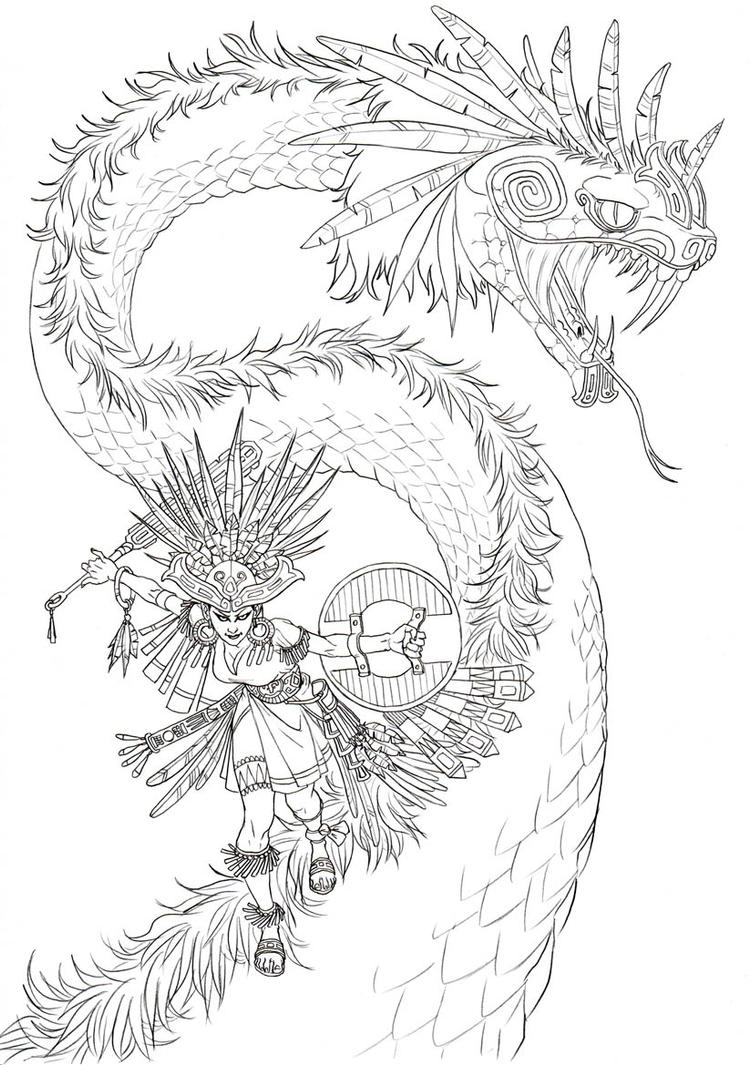quetzalcoatl aztec drawing - photo #10