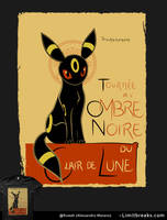 Ombre Noire (Umbreon, Pokemon) by Ruwah