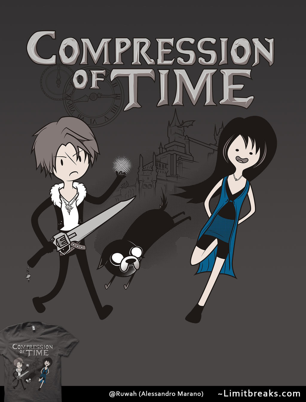 Compression of Time (Final Fantasy/Adventure Time) by Ruwah