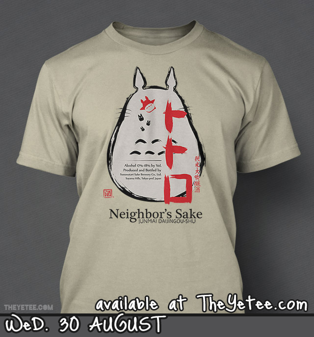 Totoro Sake at TheYetee by Ruwah
