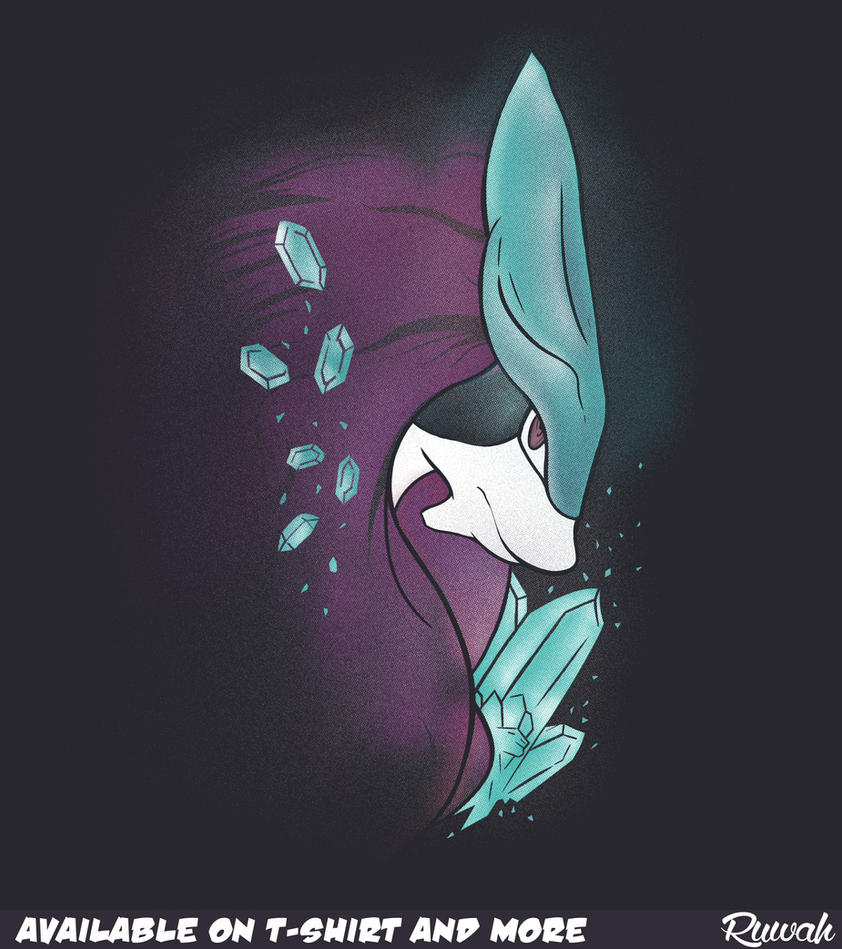 Crystal's Guardian (Suicune/Pokemon t-shirt) by Ruwah