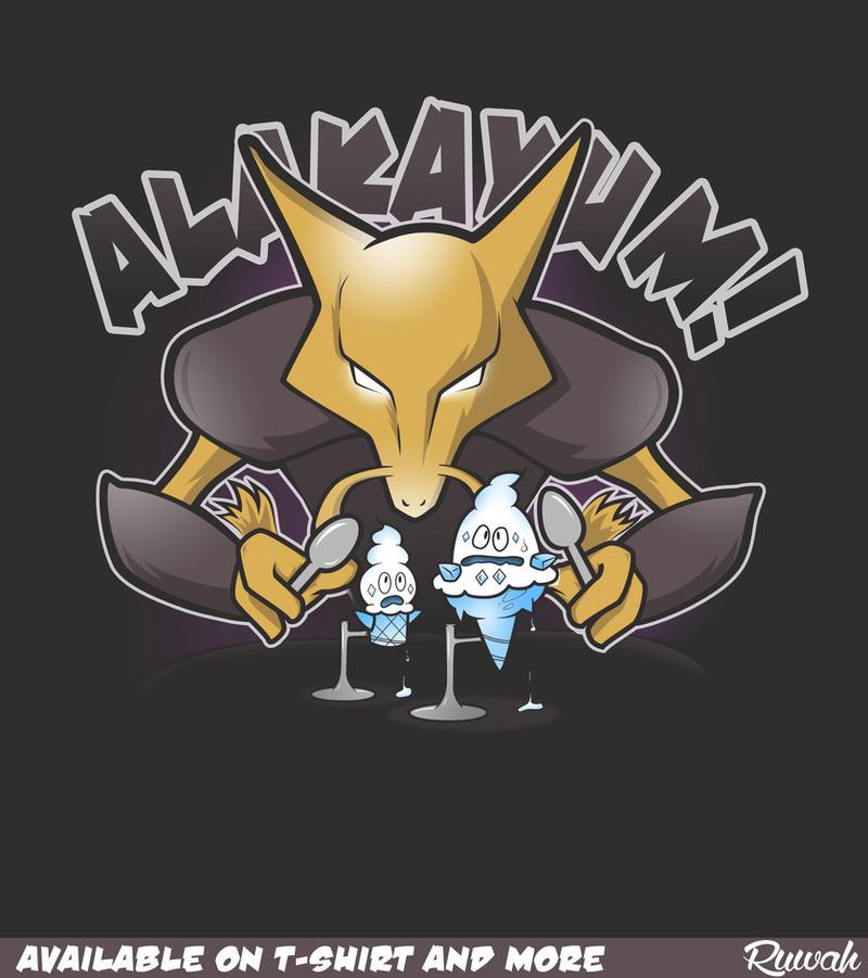 Alakayum! (Alakazam/Pokemon t-shirt) by Ruwah