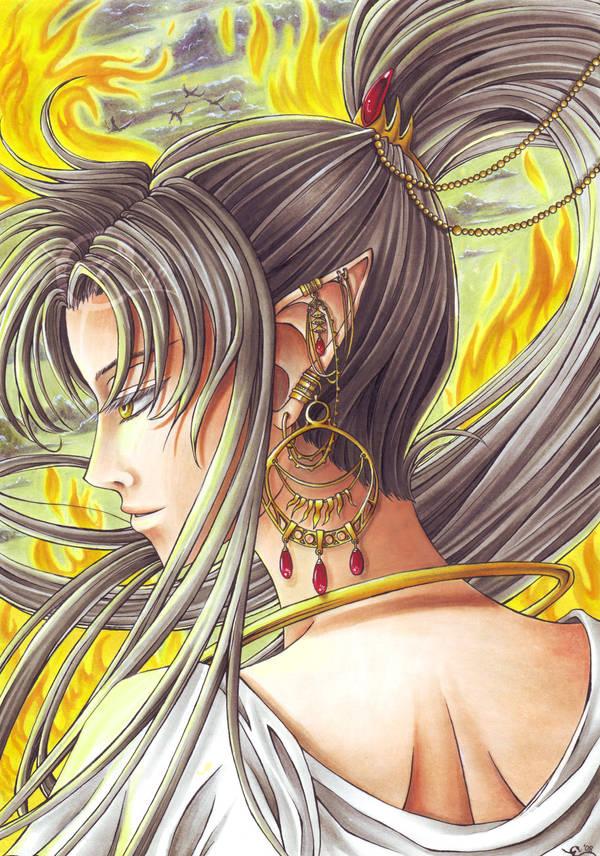 Your golden Flames by Delsago