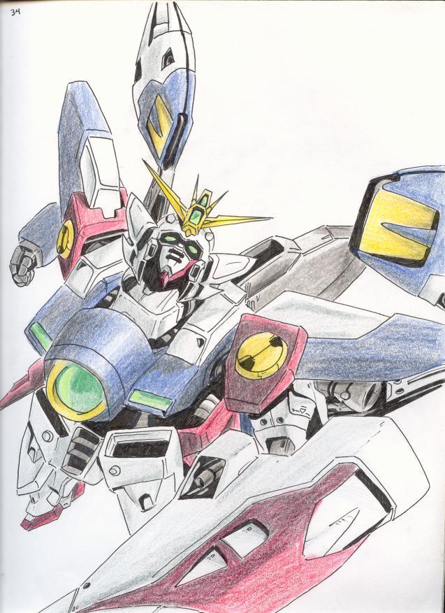 gundam wing zero by utenafangirl