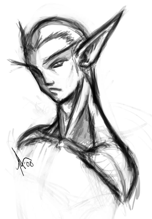 Random Elf Headbust by utenafangirl