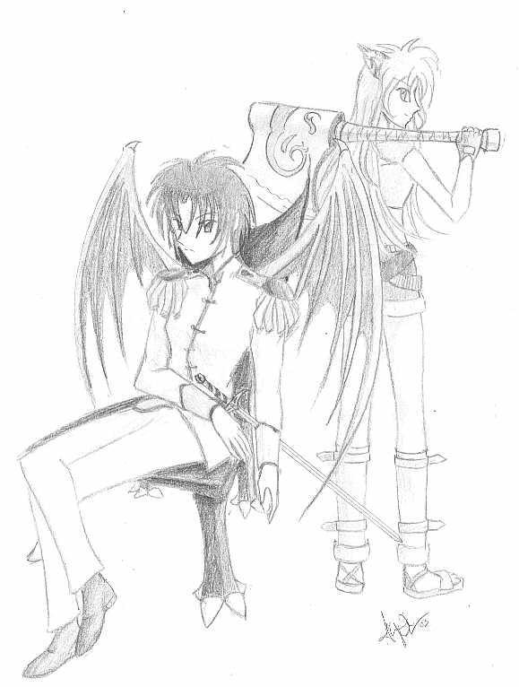 Tori and Neko by utenafangirl