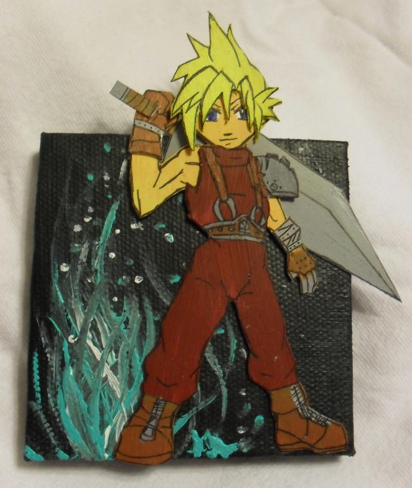 Cloud Strife painting by utenafangirl