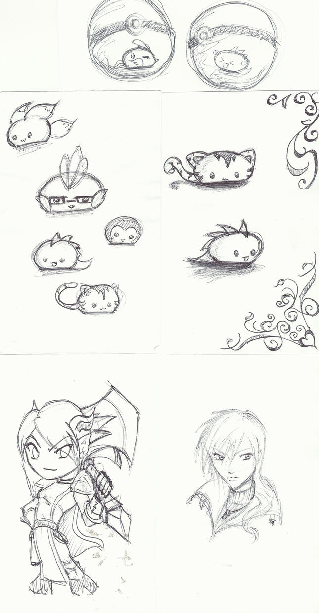 Work doodles by utenafangirl