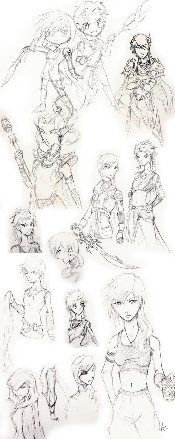 Sketchbook Doodles by utenafangirl