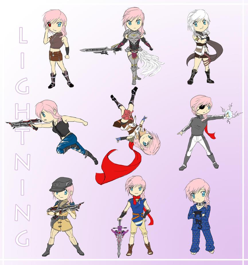 Lightning Obsession Chibi edition by utenafangirl