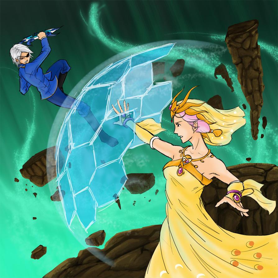 DA C3 R1 Fujin vs Princess Sarah by utenafangirl