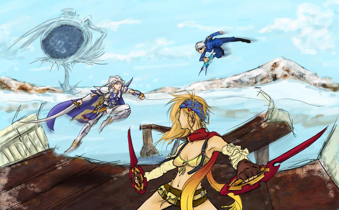 DA MT C3 R3 Fujin vs Rikku vs Cecil by utenafangirl