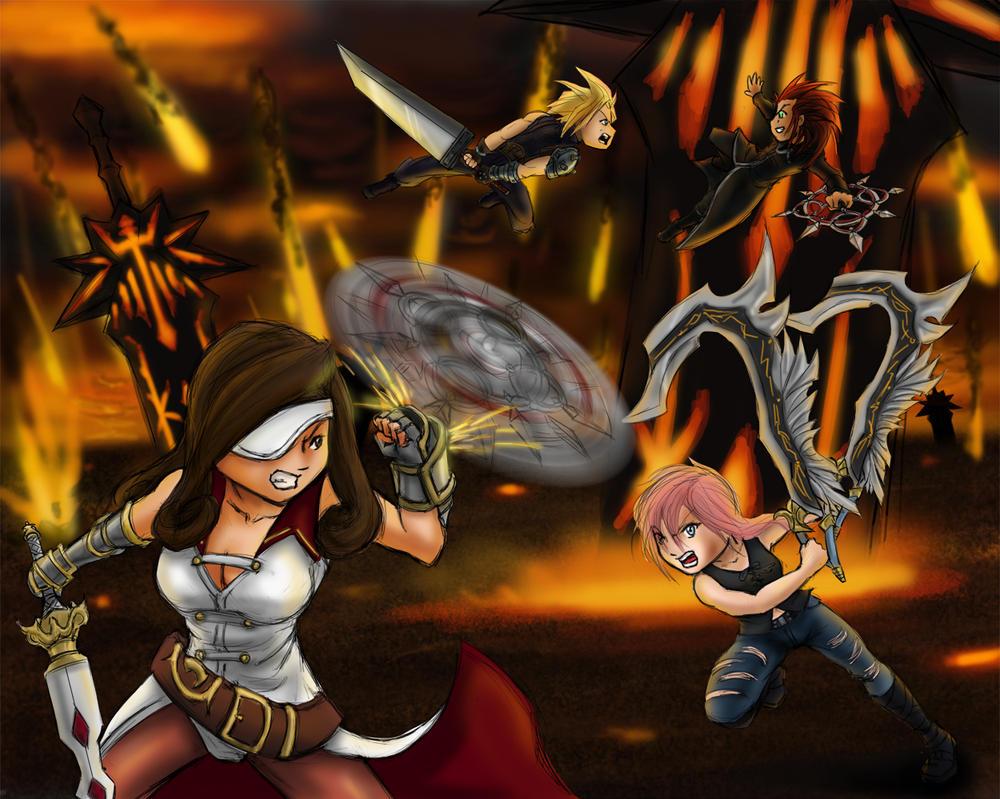 Cycle 4 Final Round Lightning vs Beatrix by utenafangirl