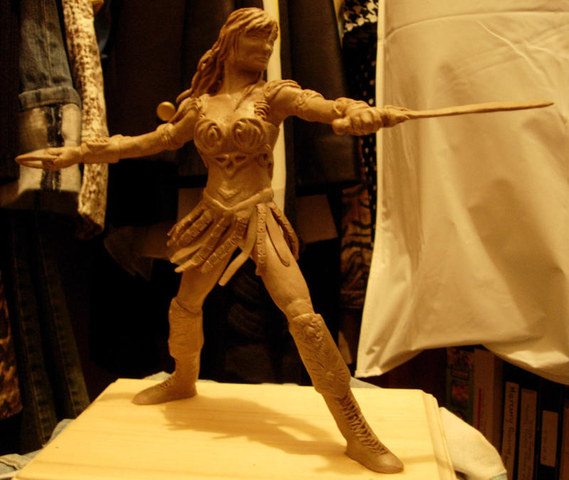 xena full body sculpture by utenafangirl