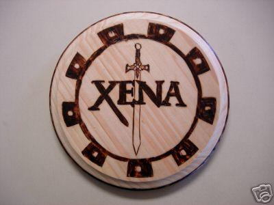 Xena woodburning by utenafangirl