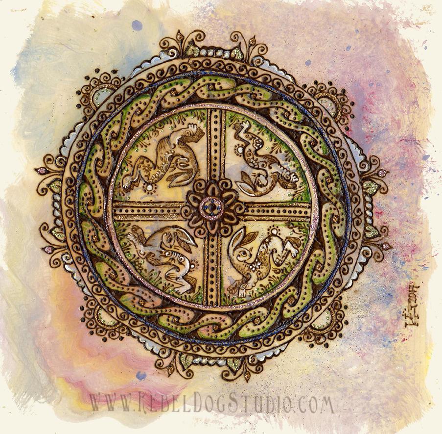 Celtic Bunny Mandala by RebelDogStudio