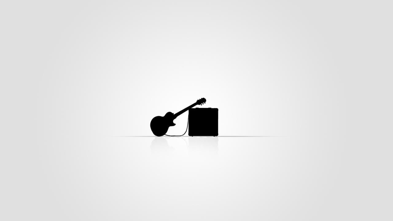 Minimalist guitar by sking trf on deviantart for Art minimaliste musique