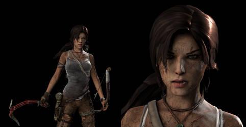 Survivor Lara + Face close-up by SKing-TRF