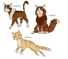 Bunch of Warrior Cat OCs by Meerakatt