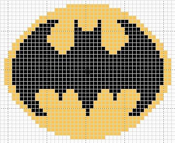 Batman Symbol Pattern (In Progress) by cadetenglish