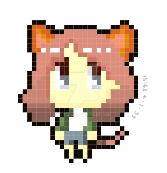 Pixel-art Me by gearu