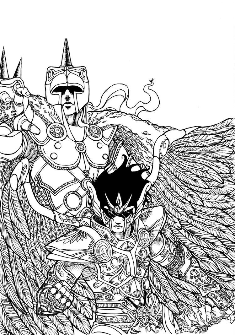 pin disegni saint seiya i cavalieri dello zodiaco da