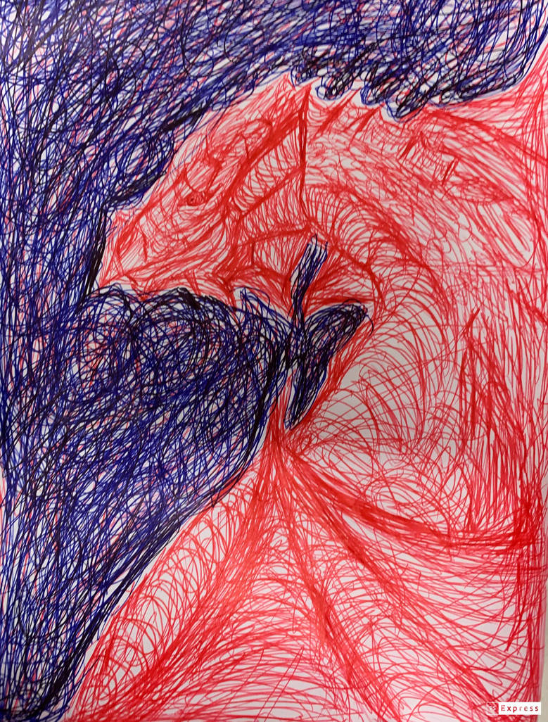 Dragon drawing 17/07/2019 by Saraeustace91